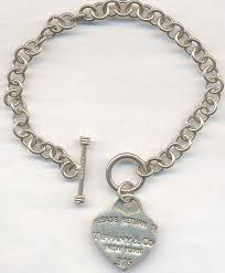 tiffany necklace charms images Sterling tiffany co new york token charm bracelet modern jpg