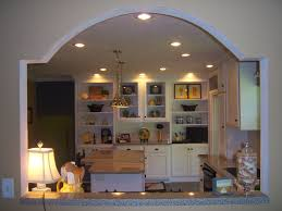 arch between kitchen and living room living room ideas