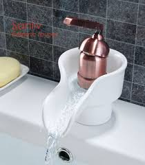 Bathroom Waterfall Faucet by Waterfall Ceramic Bathroom Sink Faucet 28551 Waterfall Bathroom