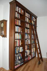 custom bookcase unit w ladder dutch haus custom furniture