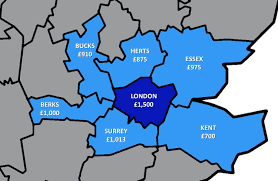 how much does it cost to rent outside london londonist
