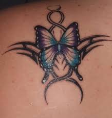 flower and butterfly tattoos shoulder meaning design idea