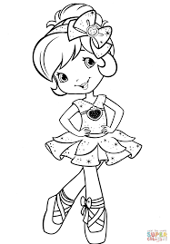 strawberry shortcake ballerina coloring page free printable