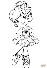 strawberry shortcake ballerina coloring page free printable