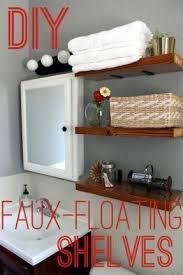 wood shelves wall foter