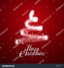 glowing christmas tree vector magic holiday stock vector 520793962