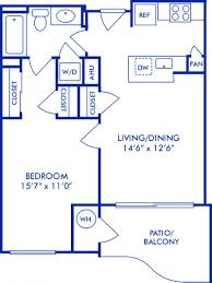 The Azure Floor Plan by Studio 1 U0026 2 Bedroom Apartments In Arlington Va Camden Potomac