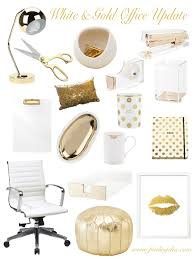 chic office decor finding chic white gold office update
