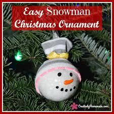 easy handmade snowman ornaments creatively