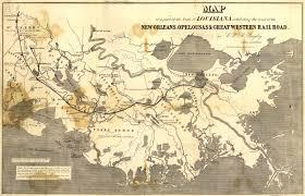 Map Of New Orleans Louisiana by Bayley U0027s Map Of Louisiana Railroads 1853