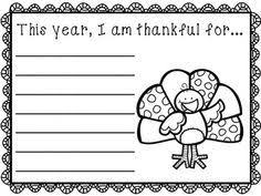 this thanksgiving writing activity guides students through the