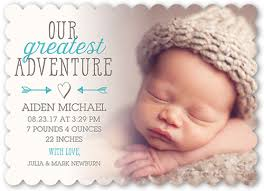 birth announcements greatest adventure boy personalized birth announcements shutterfly