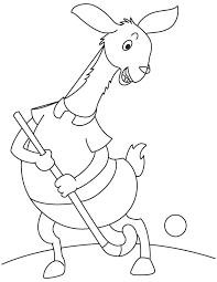 llama playing hockey coloring page download free llama playing