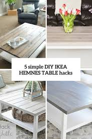 Ikea Hack Coffee Table 5 Simple Diy Ikea Hemnes Coffee Table Hacks Shelterness