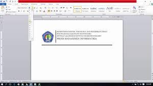 membuat kop surat organisasi cara membuat kop surat menggunakan microsoft word 2010 youtube