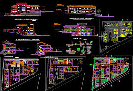 kitchen of the restaurant dwg free cad blocks download for