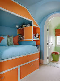 orange and blue bedroom kendall wilkinson design bright kids bedroom with blue walls and