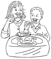 Brushing Teeth Coloring Pages Hygiene Dental Teeth Coloring Page Brushing Teeth Coloring Pages
