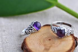 silver rings stones images Nepal ethnic handmade retro carving 925 sterling silver rings for jpg