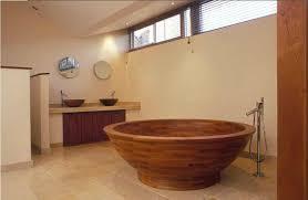 Wood Bathtubs Helio Teak Wood Bath Tub Artisan Crafted Home