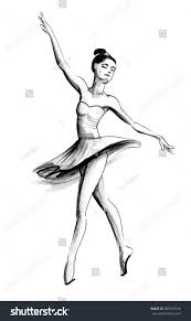 ballerina sketch stock illustration 585518516 shutterstock