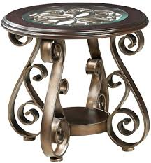 wrought iron end tables wrought iron and glass end tables lovely lincoln tempered glass top