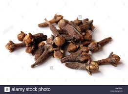 Cloves Whole Black Cloves On A White Background Stock Photo Royalty Free