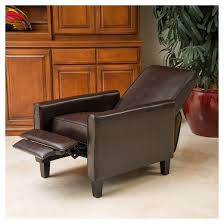 Brown Recliner Chair Darvis Leather Recliner Club Chair Brown Christopher Knight Home