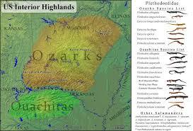 ozarks map caudata org view single post ozarks ouachita mountains
