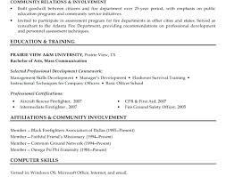 firefighter resume template firefighter resume resume template awesome firefighter resume 8