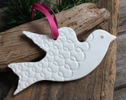 dove ornaments etsy