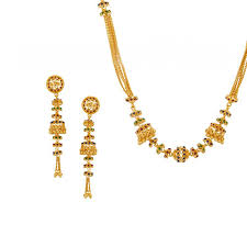 long yellow gold necklace images 22kt gold jhumka long necklace set raj jewels jpg