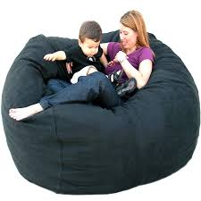 amazon com cozy sack 5 feet bean bag chair large black kitchen