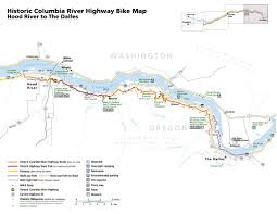 Hood River Oregon Map by Historic Columbia River Highway Maplets