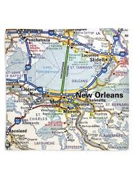 orleans map orleans map napkins set of 4 fleurty