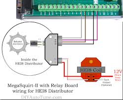 mega ii with relay board and hei8 distributor wiring diagram