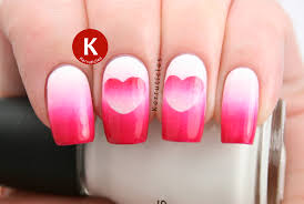week of love valentine u0027s nail art challenge hearts reverse