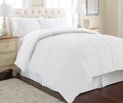 White Bed Set Queen Amazon Com Amrapur Overseas Goose Down Alternative Microfiber
