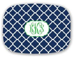 monogrammed platters and trays personalized platter monogram decorative tray choose your