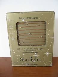 Copper String Lights by Micro Led Starlight 25 Feet Wire String Lights Copper Flexible