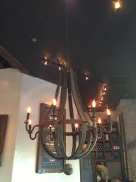 ideas dark wine barrel chandelier with interior track lighting