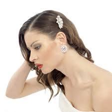 bridal hair clip eloise swarovski wedding hair clip vintage