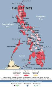Map Of Phillipines Malaria Map Philippines Map Of Philippines Malaria South