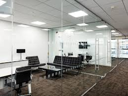 Glass Partition Design Glazed Frameless Glass Office Partitioning