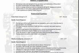 Quality Control Resume Sample by Resume Of Qa Qc Electrical Inspector Reentrycorps