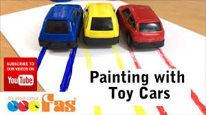 painting with toy cars printing with toys and wheels fas super