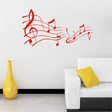 music note home decor wall decals decorations living room bedroom wall sticker music