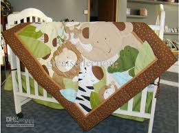 Baby Blanket Comforter Appliqued 3d Jungle Animals Boy Baby Cot Crib Bedding Set 6 Items