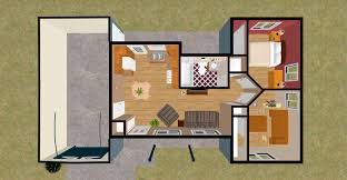 bed 1 bedroom house plan
