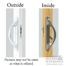 Keyed Patio Door Handle Patio Door Handle 3 15 16 Non Keyed White